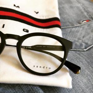 lunettes homme en plastique noire sandro